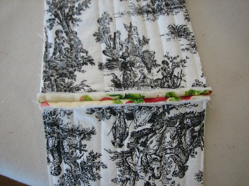 sew bottom together with lining sides together.