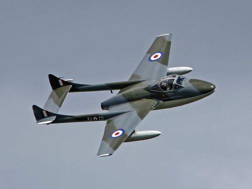 Warbird picture - De Havilland Vampire G-HELV