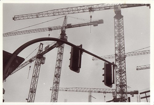 Construction cranes in Berlin