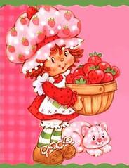 Caricature de shortcake aux fraises Vintage