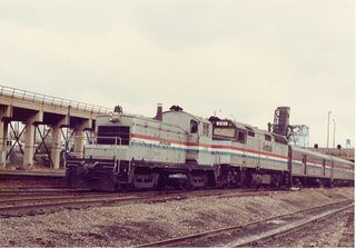 Amtrak terminal operations near Chicago Union Station. November 1983. by Eddie from Chicago
