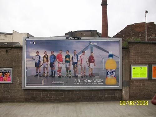 Ireland  Cork - ad showing hurlers