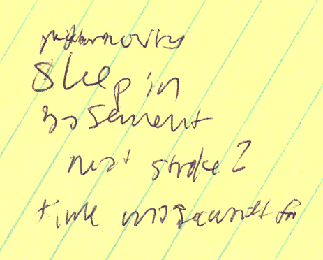 illegible dream notes
