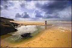Beach at Ballybunnion, Co. Kerry (Tony Murphy) Tags: ireland sea sky sun beach sand kerry ballybunion boyle roscommon ballybunnion awalkonthebeach tonymurphy skysunseasand