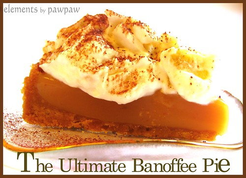 Banoffee pie a name derived from the combination of bananas toffee