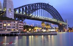 Sydney Harbour Bridge Sunrise 3min exposure (CruzinHard) Tags: water sunrise nikon sydney harbourbridge d300 hyatthotel 18200mmvr cruzinhard