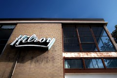 Hilroy: A Canadian story (guajava) Tags: sign ontario eglintonwest caledonia day hilroy window canada castlefield toronto brick outdoor urban city sky factory windows blue stationery building street foveon sigma dp1 28mm