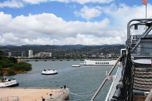 Arizona Memorial from the Missouri
