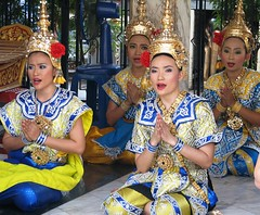 Thai Dancers at the Erawan Shrine