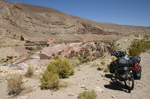 Great scenery, south of Abra Pampa, Argentina.