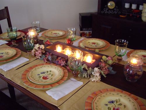 Main Table for Italian Dinner
