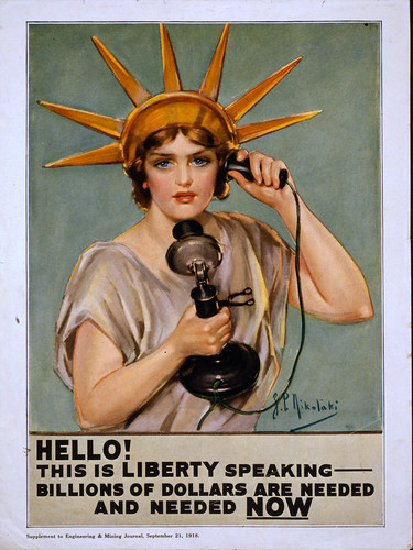 "No Known Restrictions: ""Hello! This is liberty Speaking - Billions of dollars are Needed and Needed Now"" by Z.P. Nikolaki, 1918 (LOC)"