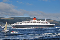QE2 heading to Greenock (alkaz03) Tags: 2 river scotland clyde greenock mac elizabeth scottish sunny queen cal western shipping tugs ferries qe2 caledonian dunoon macbrayne inverclyde ferrires