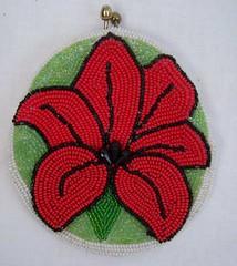 Vintage 60's Micro Beaded Purse 3D Flower (The Vintage Peddler) Tags: 60s fifties 50s etsy handbag sixties vintagepurse peddlingpurses thevintagepeddler