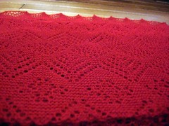 red garter shawl - 2