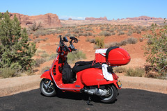 Scott's Vespa at Arches