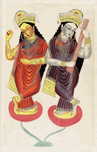 0011- Lakshmi diosa de la fortuna y su consorte  Vishnu