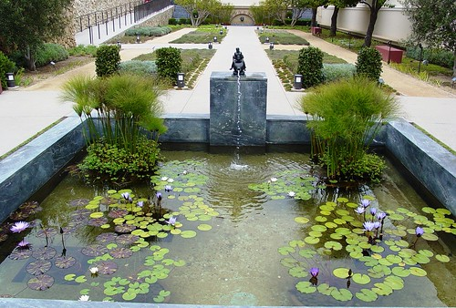 Pond in the Herb Garden The Getty Villa Malibu, California - a photo ...