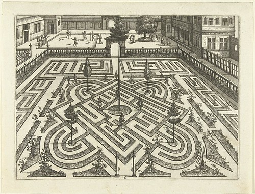 Het labyrinth wordt - 16th century garden layout design