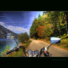 "my way along lake ""Achen"" (Austria) (MyOakForest) Tags: bike austria motorrad achensee achen motorsycle"