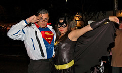 Clark Kent and Batgirl
