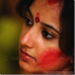 Vermilion (Java Cafe) Tags: portrait woman india girl face festival closeup lady female eyes topf75