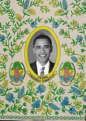 Skinny LaMinx Obama textile