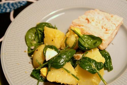 potatissallad med salicorne
