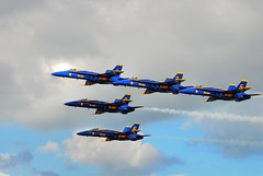 5 Angels (zacklayman) Tags: airplane florida jets blueangles formation airshow 70300mm fdr pdr photomatix d80 psuedohdr kennedyspacecenterspaceandairshow
