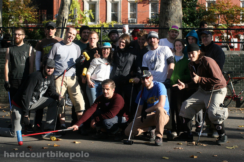 bike polo nyc 11-9-2008 group