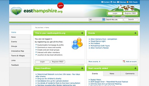 screenshot of easthampshire.org