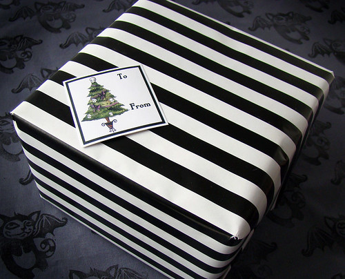 striped box