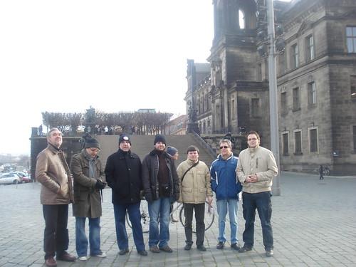 Lequip andorrà de visita pel centre de Dresden