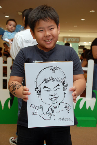 caricature live sketching for West Coast Plaza day 1 - 28