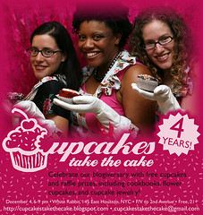 Cupcakes Take The Cake 4th Anniversary Party invite