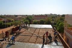 Auf der Baustelle wird weitergearbeitet