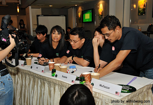 BRAND'S Blogger Challenge - 04 Team Malaysia pretending to be thoughtful