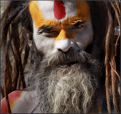 Sadhu (Sukanto Debnath) Tags: nepal red portrait man yellow religious temple paint indian sony ash kathmandu ethnic hindu turmeric hinduism f828 sadhu vermilion pashupatinath debnath sukanto sukantodebnath