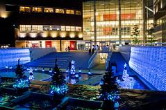Blue Illumination (Ballet Lausanne) Tags: light night geotagged tokyo d300 lalaport toyosu lalaporttoyosu geo:lat=356555336 geo:lon=1397924414