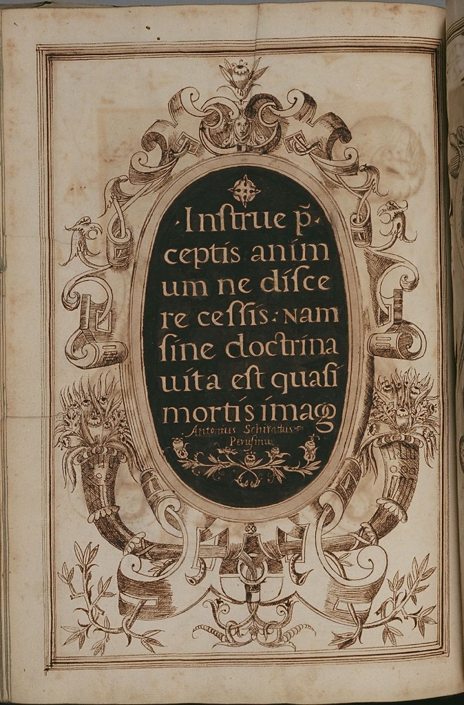 Calligraphy Cartouche - Antonio Schiratti - 1600-1615