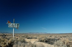 cafe? (Dave van Hulsteyn) Tags: abandoned sign cafe neon desert neglected forgotten mojave ghosttown 50s googie derelict boron ca58 californiahighway58