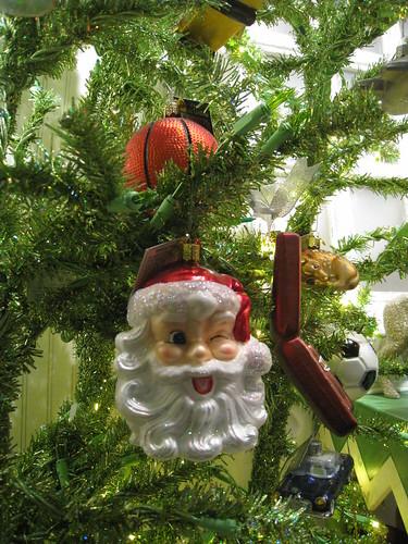 Winkin' Santa