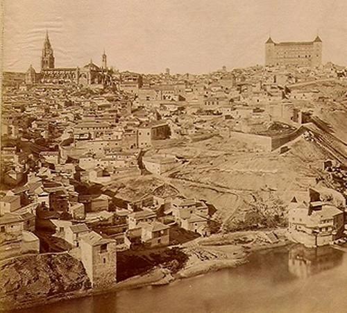 Panorámica de Toledo. Foto Jean Laurent, 1872.
