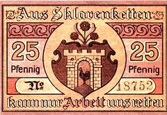 Sklavenketten, Kaltennordheim, 25 pf, 1919 (Iliazd) Tags: money germany graphicdesign inflation notgeld papermoney 19171922 germanemergencymoney germanpapermoney