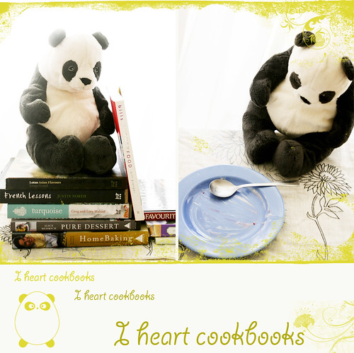 Panda loves cookbooks