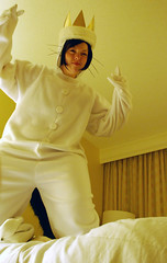 Jumping on the bed! (HelloHayley) Tags: max maurice 2009 wherethewildthingsare dragoncon sendak wtwa