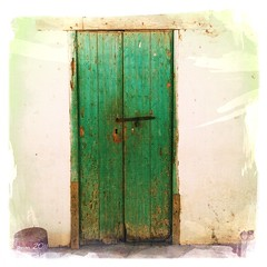 The Green Door (pam's pics-) Tags: door old mexico village pvr puertovallarta pv smalltown greendoor iphone miningtown sansebastiandeloeste pammorris appleiphone iphone4 mobilephonephotography denverpam