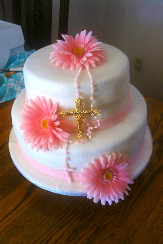 holy communion cake by Little Sweeties Cupcakes