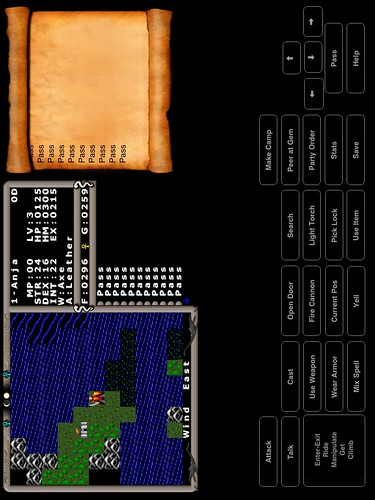 Ultima IV running on my iPad 2, NOT jailbroken