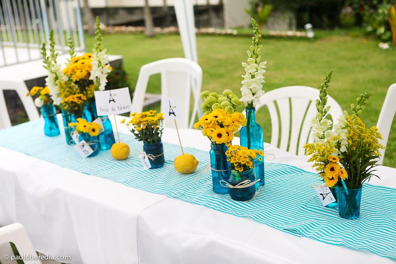 """decoracao de festa infantil azul e amarelo:Paulo Herédia – Fotógrafo de casamento: Um casamento """"feito em casa"""